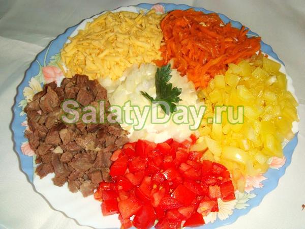 Рецепт салата калейдоскоп с фото
