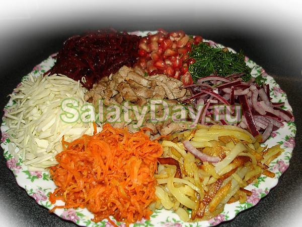 Салат калейдоскоп разные рецепты с