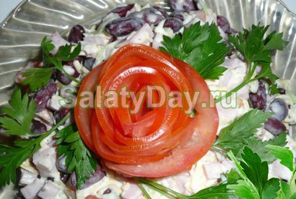 Салат Купеческий с фасолью