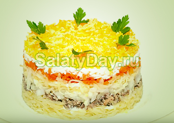 Мимоза с сыром рецепт без картошки и моркови
