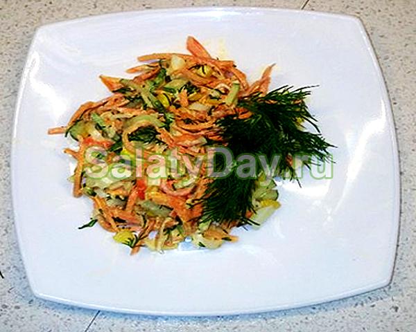 Салат из крабов с корейской морковкой