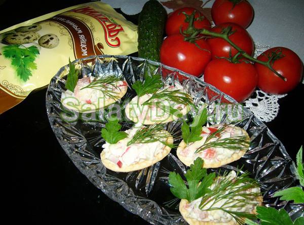 Салат из крабов «Нежный»