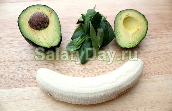 Салат с авокадо и бананом
