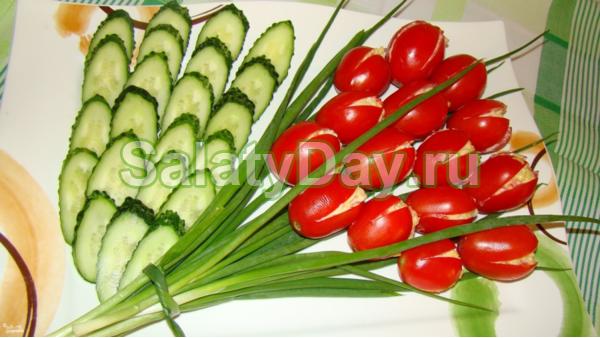 Салат Весенний Тюльпан