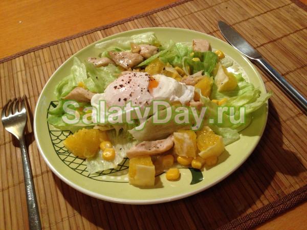 Салат из курицы и винограда