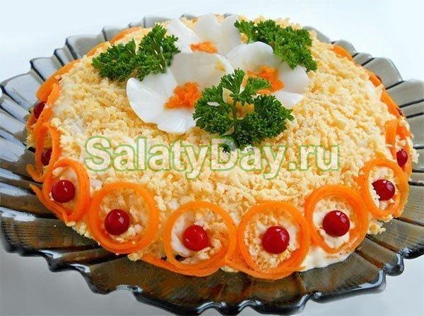 Салат Бунито из курицы и корейской морковки