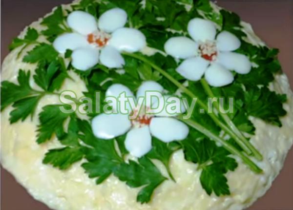 Салат Три цветка