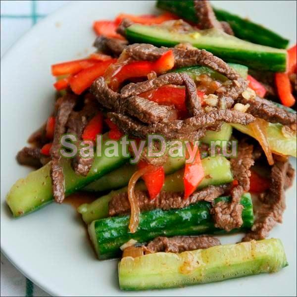 Салат Восточный с соевым соусом