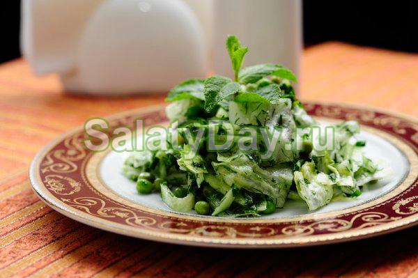 Салат Восточный с зеленым горошком