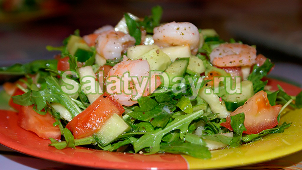 Восточный салат с рыбой