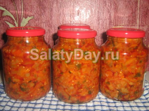 Салат с помидорами, болгарским перцем и свеклой на зиму
