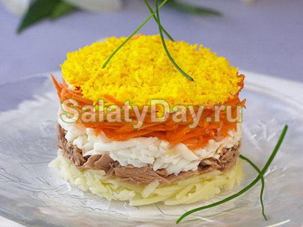 Салат мимоза без майонеза рецепт с