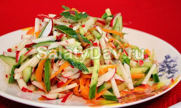 Салат из капусты и редиски рецепты