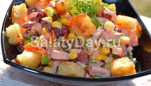 Салат из фасоли и грибов рецепт