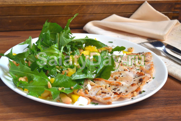 Салат одуванчик с селедкой рецепт