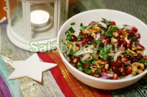 Необычный салатик из фасоли
