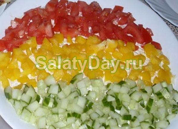 Рецепты салатов светофор
