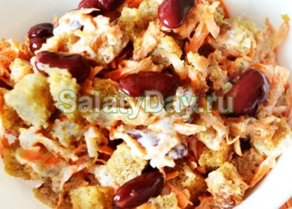 Салат с кириешками «Лайт»