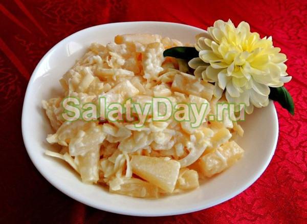 Салат «Дамский каприз» с курицей и яйцами