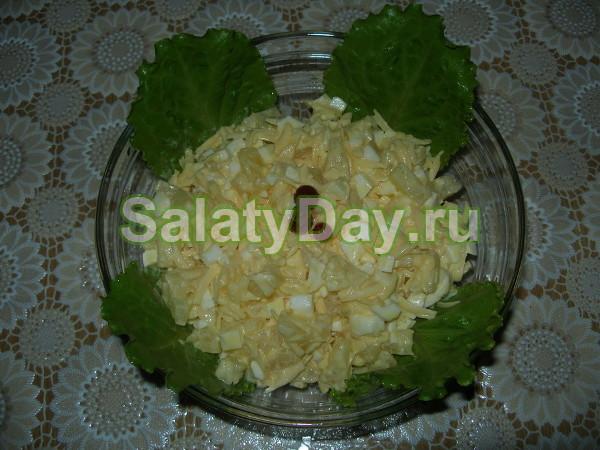 Салат «Дамский каприз» с миндалем и сливками