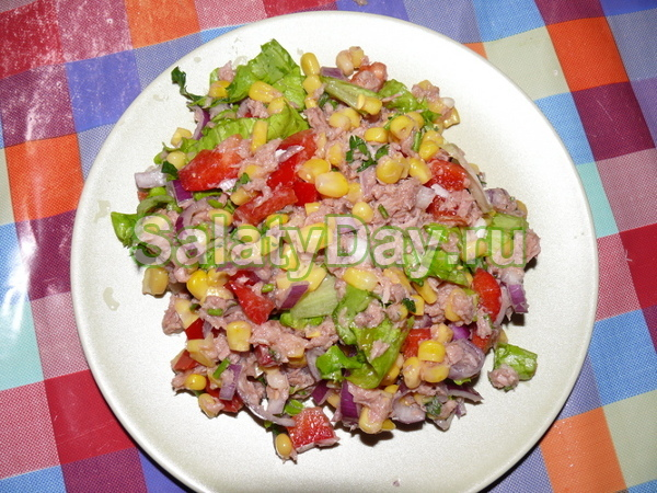 Салат зимний с кукурузой рецепт