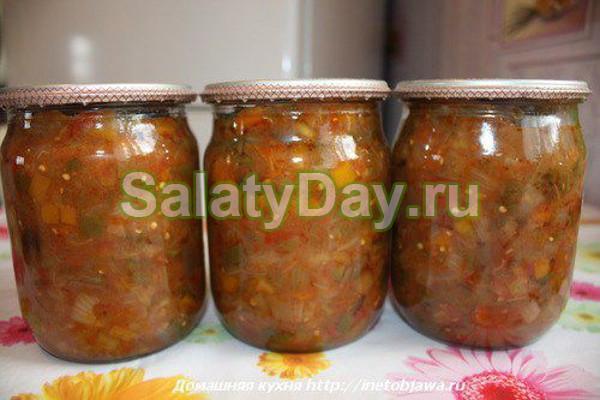 вкусный рецепт салата на зиму десятка