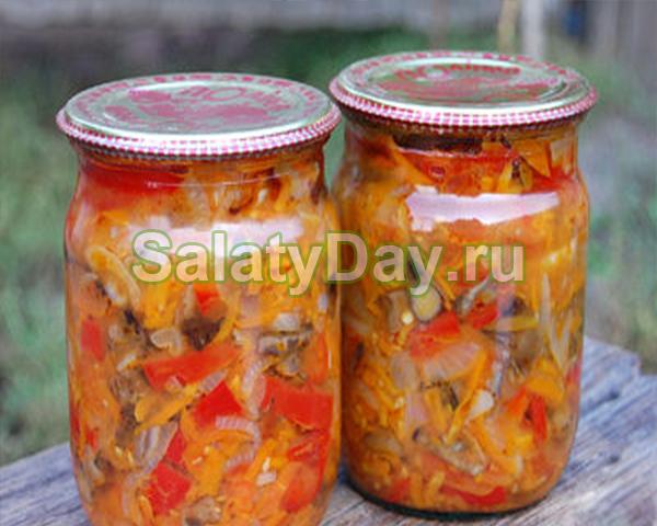 салат из капусты на зиму витаминка