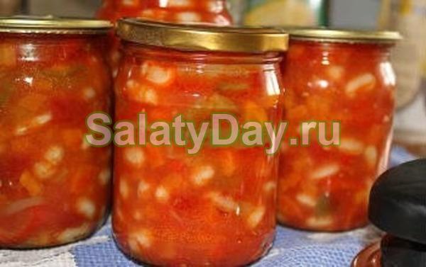 Салат с фасолью на зиму – полезные и вкусные домашние рецепты: рецепт с фото и видео