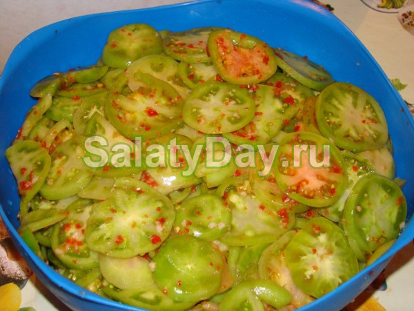 Салаты на из зеленых помидор на зиму рецепты