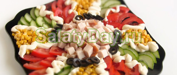 Салат «Цветик семицветик» за 10 минут