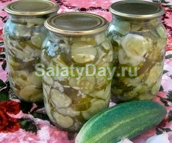 Салат из огурцов переросших огурцов