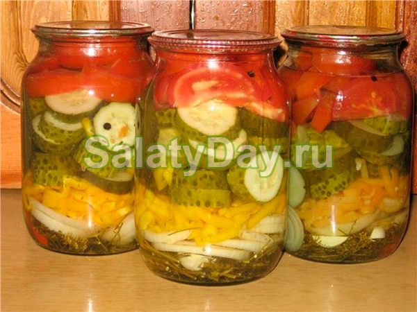 Зимний салат без масла