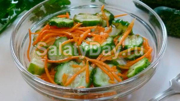 Огурцы по-корейски с приправкой для корейской морковки