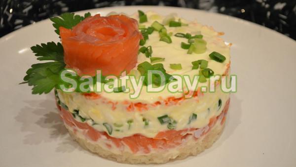 Теплый салат с вялеными томатами