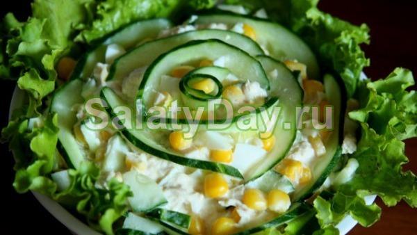Салат из огурцов «На берегу»
