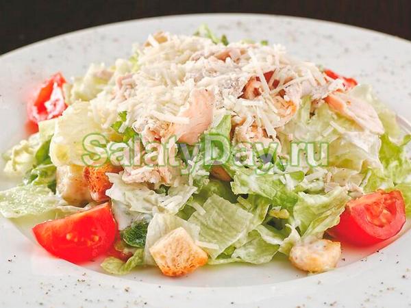 Цезарь салат рецепт с вкусный