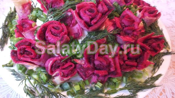 Салат на свадьбу «Цветы для невесты»