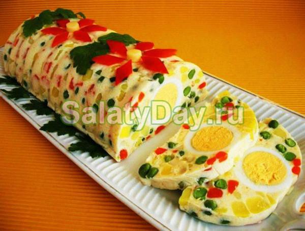 Праздничный салат «Желейный»