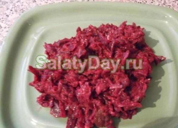 свекольный салат свежий