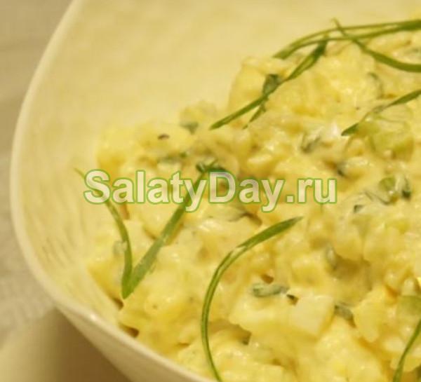 Салат яичный с картофелем