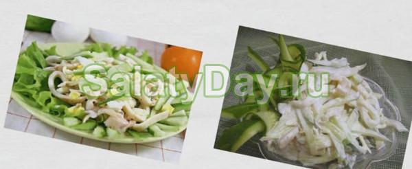 Салат яичный с кальмаром