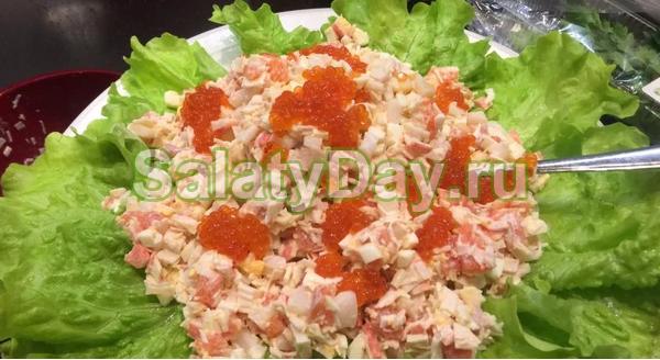 29 Праздничные салаты с кальмарами рецепты