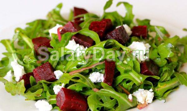 Салат со свеклой и сыром «Фета»