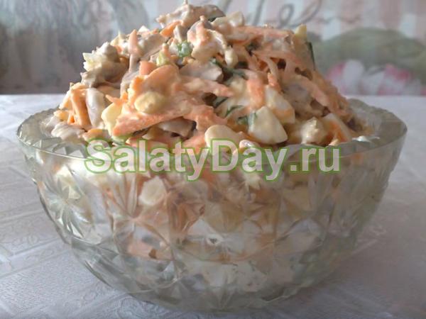 Салат из пупков куриных - простой