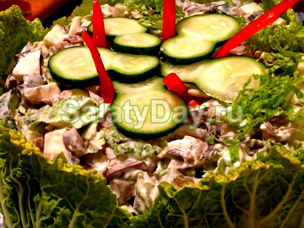 Салат из пупков куриных - «сытная вкуснятина»