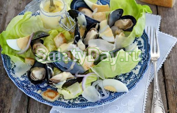 Салат с мидиями «Протеиновый»