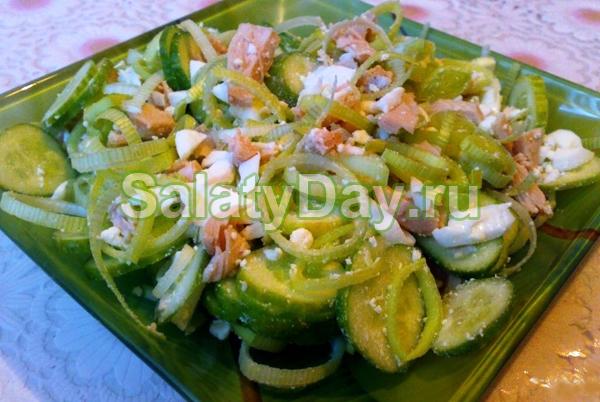 Салат из консервированного кальмара рецепт
