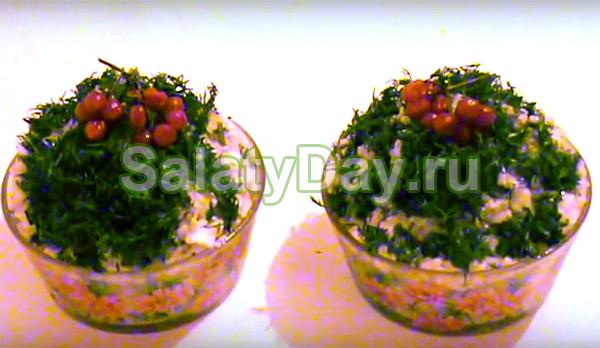 Салат с рисом и консервированными сардинами
