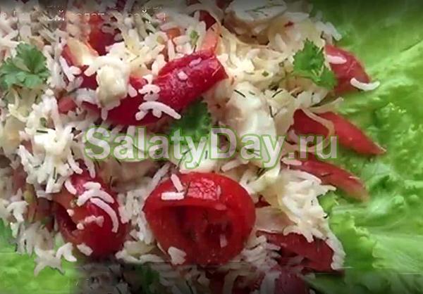 Рыбный салат из сайры