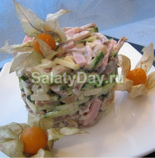 Язык салат рецепт